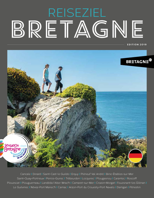 Couverture du magazine Sensation Bretagne en version allemande